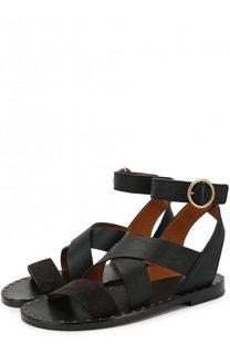 Кожаные сандалии с ремешками Chloé