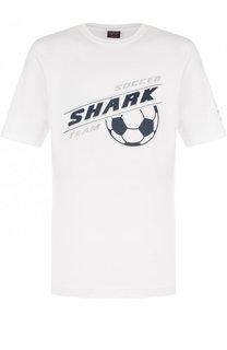 Хлопковая футболка с принтом Paul&Shark Paul&;Shark