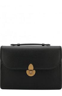 Кожаный портфель с плечевым ремнем Gucci