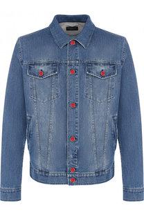 Джинсовая куртка на пуговицах Kiton