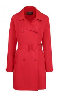 Однотонное пальто с поясом Loro Piana