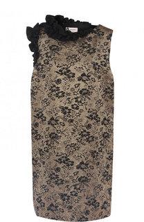 Мини-платье с декоративной отделкой Lanvin