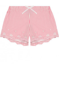Хлопковые шорты с вышивкой и фестонами Polo Ralph Lauren