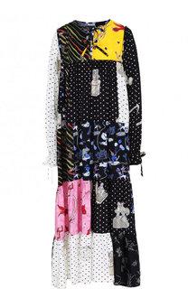 Платье свободного кроя с принтом Loewe