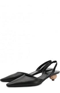 Кожаные туфли на фигурном каблуке Loewe