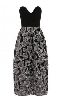 Шелковое платье-миди с принтом Roland Mouret