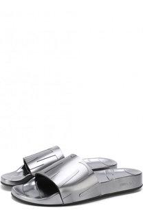 Резиновые шлепанцы Rey с логотипом бренда Jimmy Choo