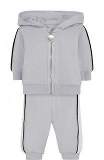 Хлопковый костюм из кардигана и брюк Givenchy