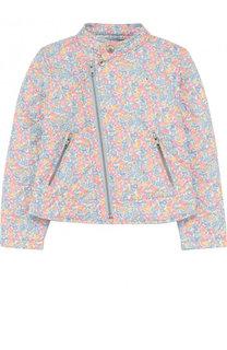 Текстильная куртка с косой молнией и воротником-стойкой Polo Ralph Lauren