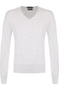 Однотонный хлопковый пуловер Tom Ford