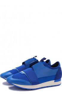 Комбинированные кроссовки Race на шнуровке Balenciaga