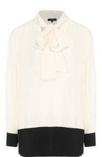 Блуза прямого кроя с воротником аскот Escada