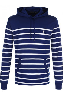 Хлопковое худи в контрастную полоску Polo Ralph Lauren