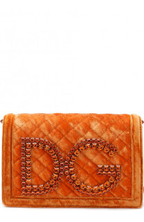 Сумка DG Girls из бархата Dolce & Gabbana