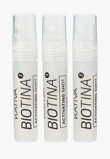Усилитель роста волос Kativa BIOTINA против выпадения в ампулах, 3 по 4 мл