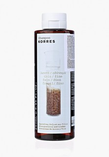 Шампунь Korres для тонких ломких волос с протеинами риса и липой 250 мл