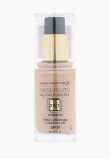 Тональное средство Max Factor Facefinity All Day Flawless 3-in-1 50 тон natural Facefinity All Day Flawless 3-in-1 50 тон natural