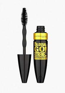 """Тушь для ресниц Maybelline New York """"Colossal Go Extreme Leather Black"""", объем и удлинение, экстрачерный, 9,5 мл"""