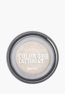 "Тени для век Maybelline New York ""Color Tattoo 24 часа"" оттенок 45 Бесконечно белый 4 мл"