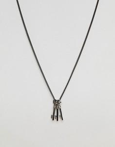 Ожерелье с тремя ключиками Simon Carter - Серебряный