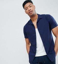 Рубашка с короткими рукавами и отложным воротником Selected Homme TALL - Темно-синий