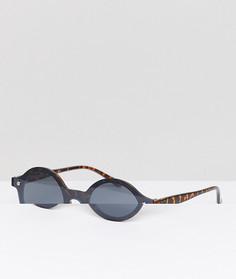 Круглые солнцезащитные очки без оправы AJ Morgan - Черный