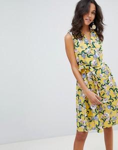 Платье с цветочным принтом Moon River - Желтый