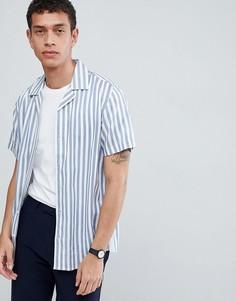 Рубашка в полоску с короткими рукавами Only & Sons - Синий