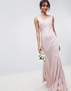 Розовое платье макси Ghost - Розовый