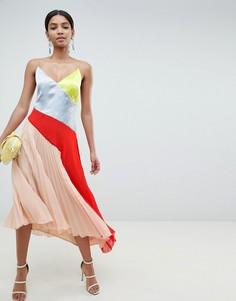 Платье колор блок ASOS DESIGN - Мульти