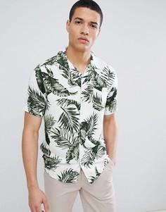 Рубашка с короткими рукавами и тропическим принтом Only & Sons - Мульти