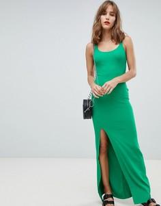 Облегающее платье макси River Island - Зеленый