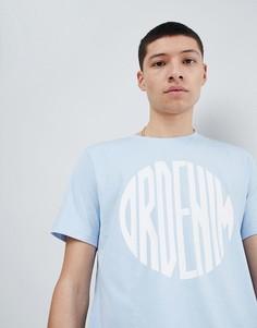 Голубая футболка с логотипом Dr Denim Patrick - Бежевый