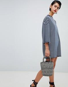 Свободное платье-футболка Missguided - Темно-синий