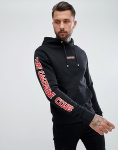 Худи черного цвета обтягивающего кроя с логотипом The Couture Club - Черный