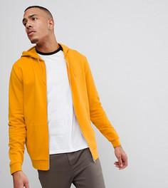 Худи желтого цвета с молнией ASOS DESIGN Tall - Желтый