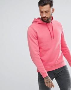 Розовый окрашенный худи из пике ASOS DESIGN - Розовый