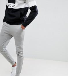 Супероблегающие светло-серые спортивные штаны ASOS DESIGN Tall - Серый