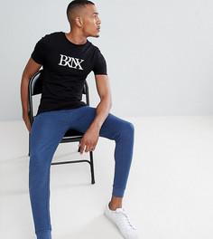 Темные джинсовые меланжевые джоггеры скинни ASOS DESIGN Tall - Темно-синий