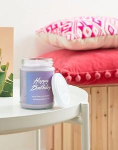 Свеча на День Рождения с ароматом джина с тоником Flamingo Candles - Мульти
