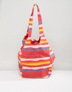Пляжная сумка в блочную полоску Vero Moda - Мульти