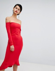Платье с открытыми плечами Missguided - Красный