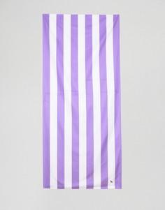 Большое пляжное полотенце фиолетового цвета в полоску Dock & Bay - Фиолетовый