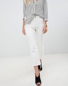 Укороченные расклешенные джинсы с необработанными краями ASOS DESIGN Egerton - Белый