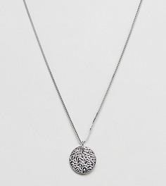Серебряное ожерелье с круглой подвеской DesignB эксклюзивно для ASOS - Серебряный