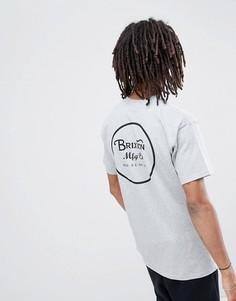 Серая футболка с логотипом Brixton - Серый