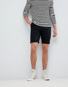 Черные шорты чинос классического кроя New Look - Черный