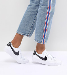 Бело-черные кроссовки Nike Blazer - Белый