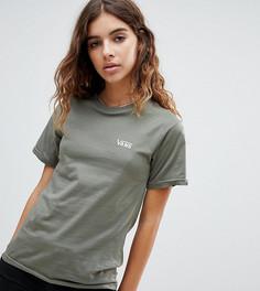 Эксклюзивная футболка оливкового цвета Vans - Зеленый