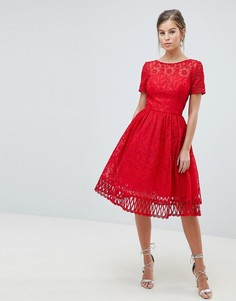 Кружевное платье для выпускного Chi Chi London - Красный